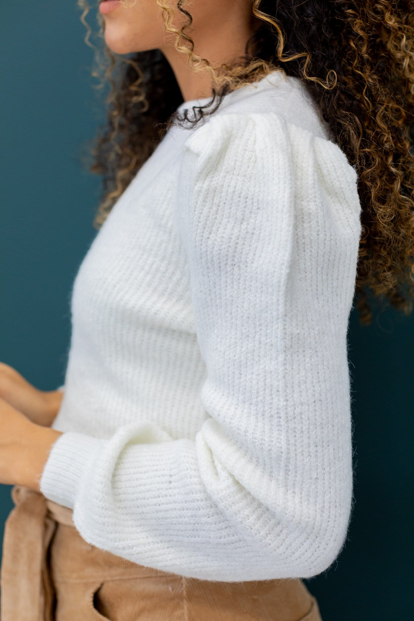 The Alisa Cable Knit Sweater in Cream
