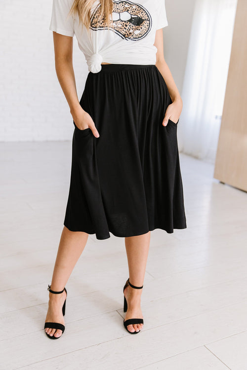 The Auden Skirt in Black and Heather Grey