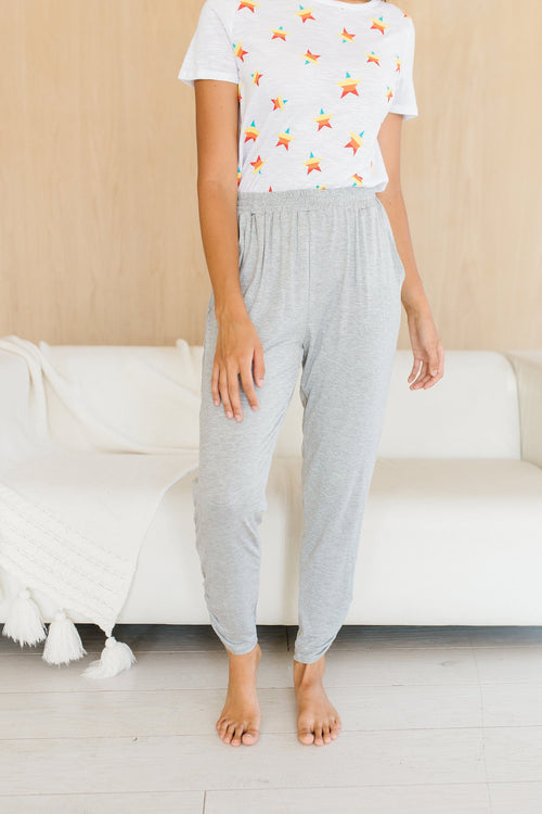 The Bethanie Lounge Pants in Heather Grey
