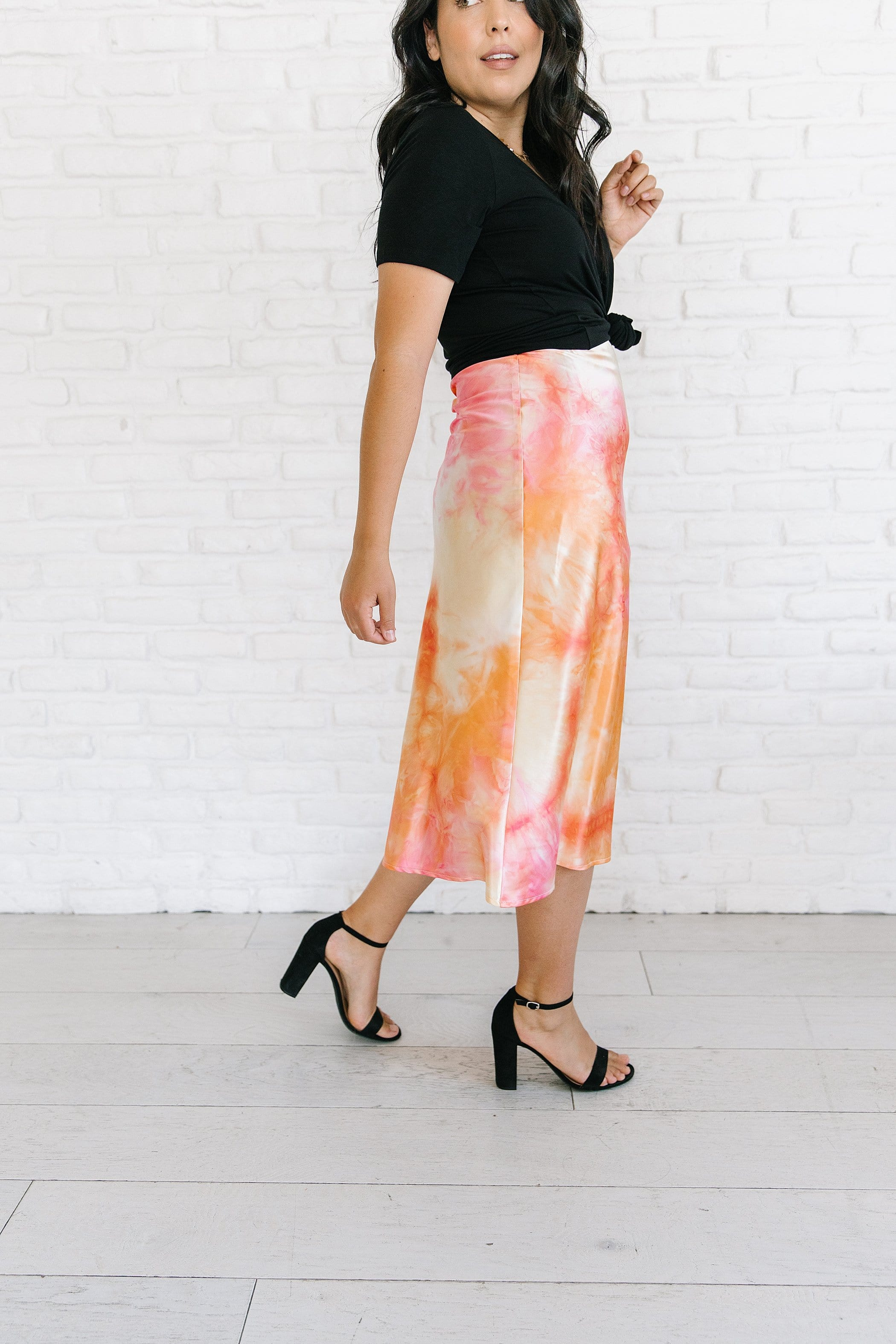 The Birdie Tie Dye Skirt in Multi