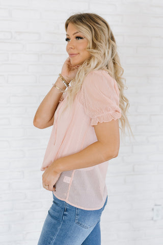 The Jodie Pocket Top in Blush