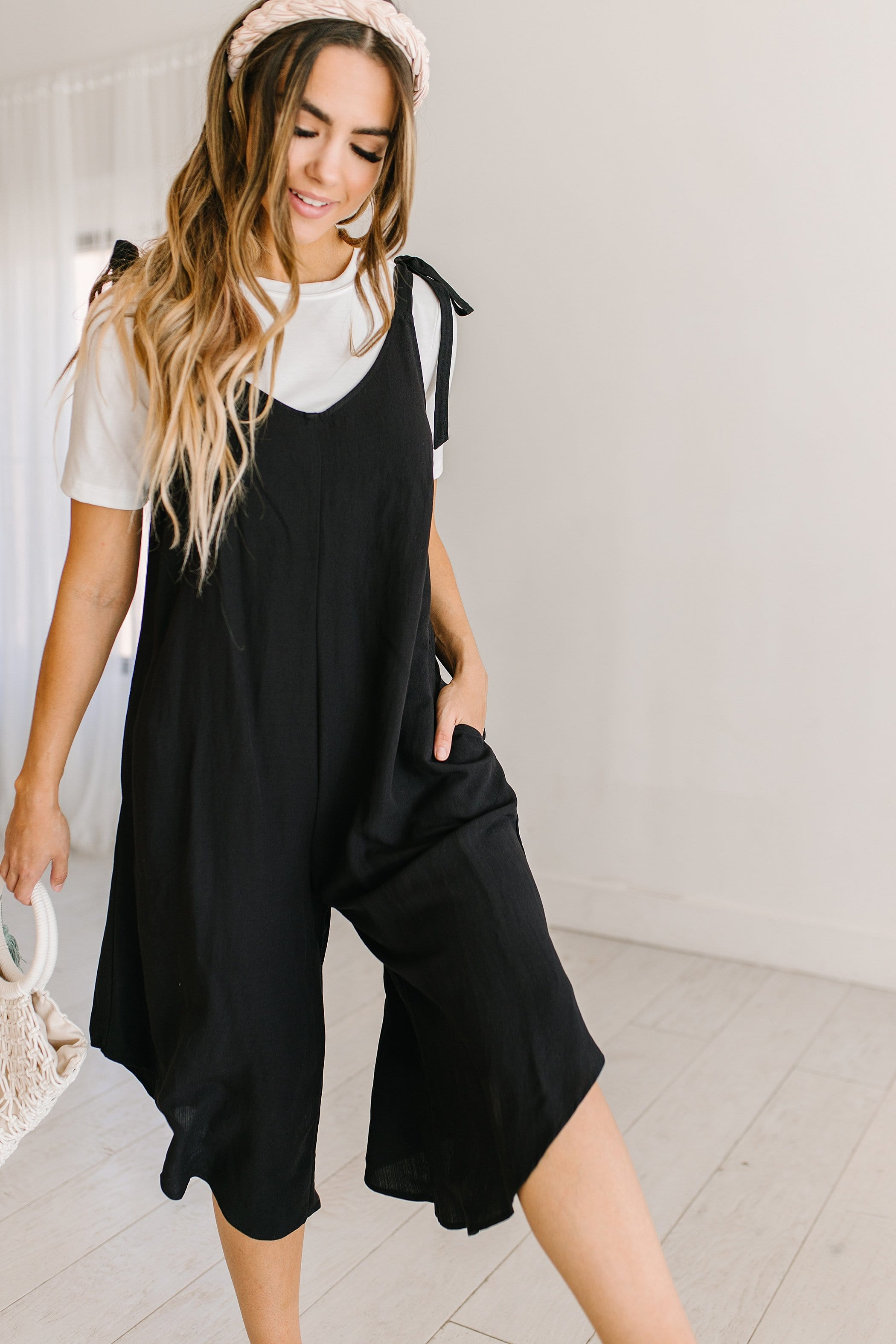 The Charley Romper in Black