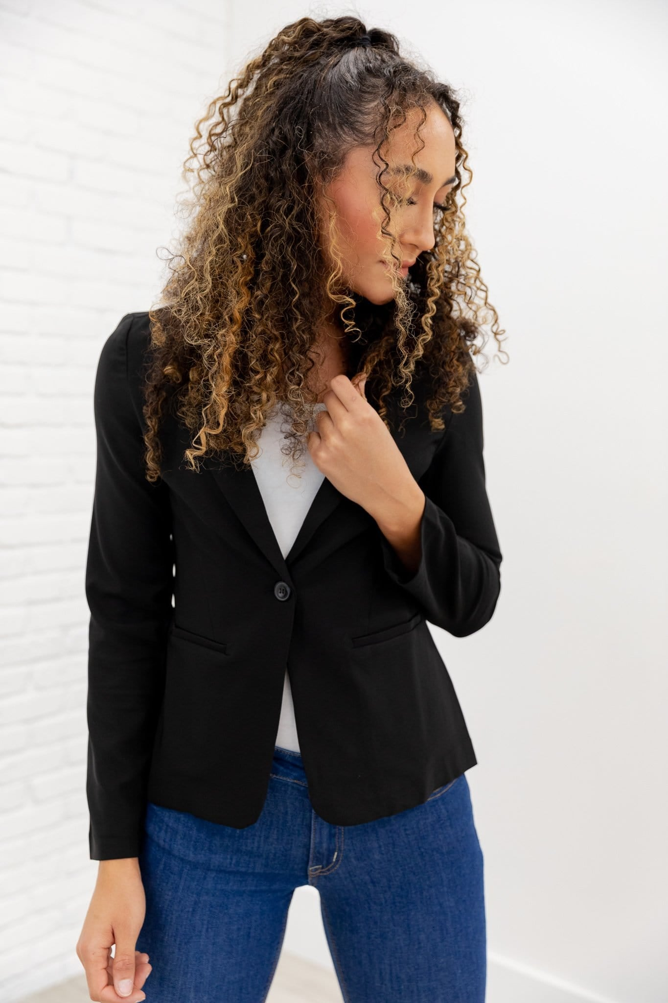 The Christa Blazer in Black