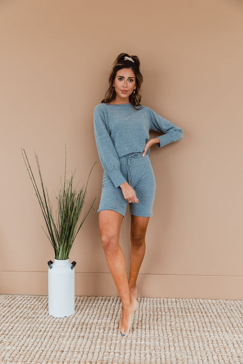 The Copeland Bermuda Short Lounge Set in Grey