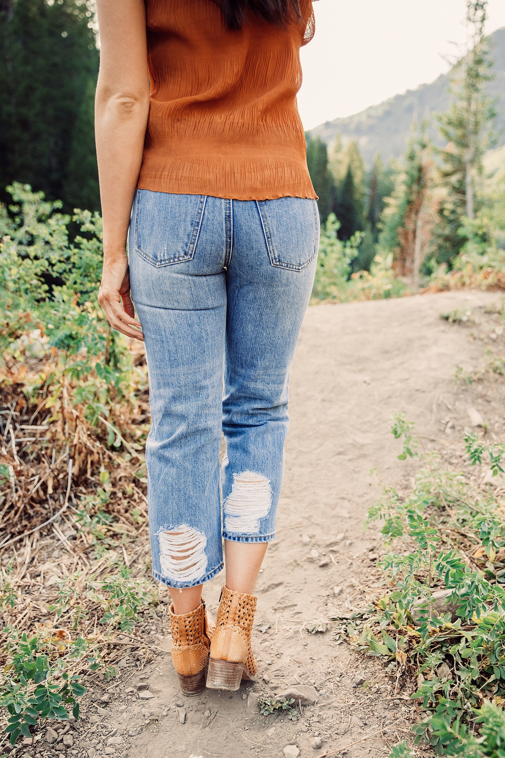 The Delta Cropped Length Jeans in Medium Denim