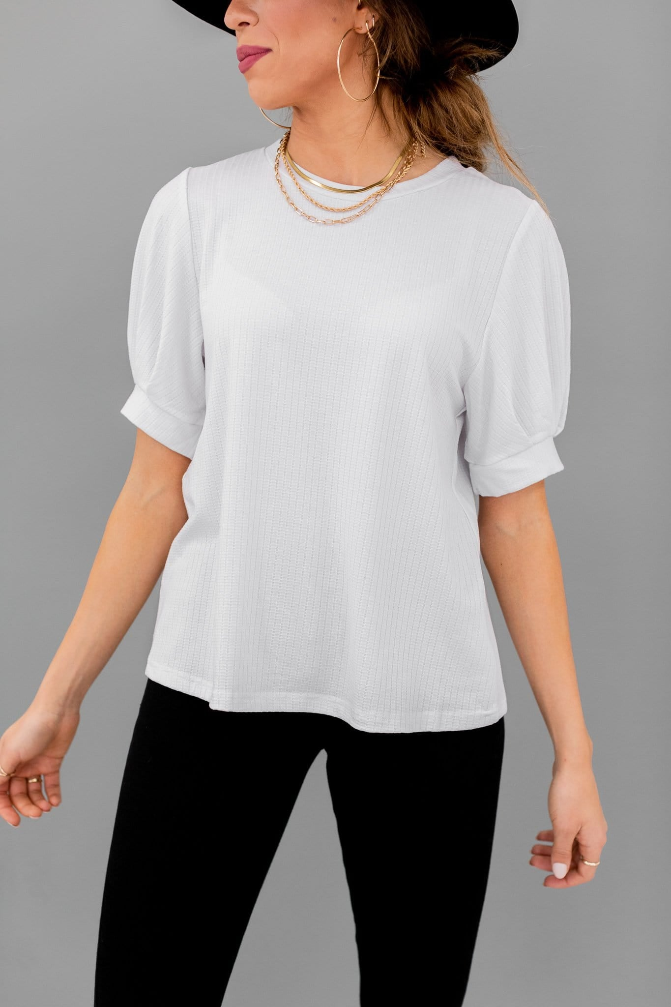 The Elin Knit Top in Off White