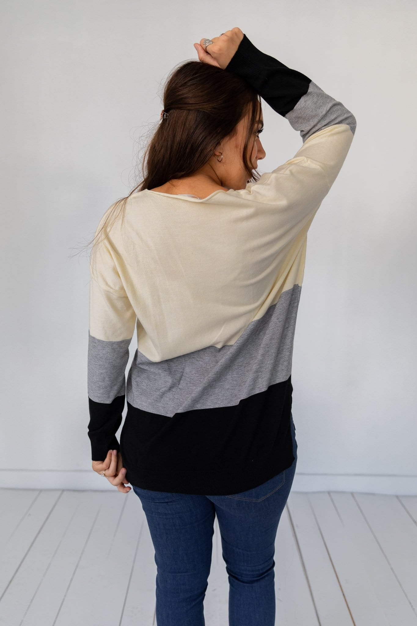 The Emily Color Block Sweater in Multi