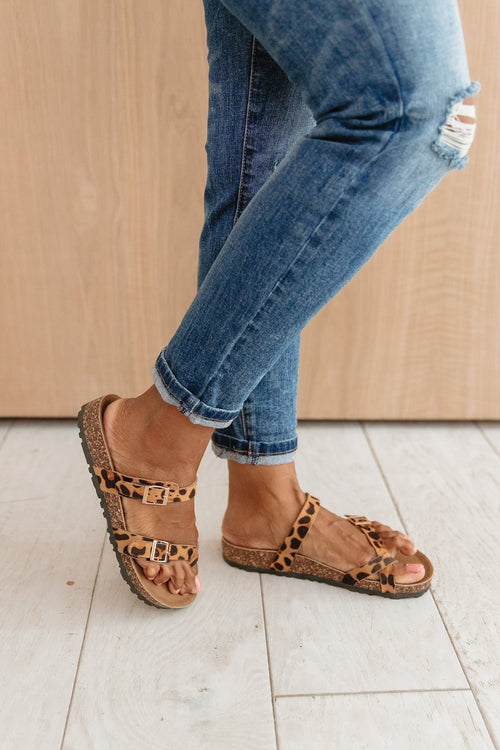 The Fable Sandals in Animal Print