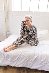 The Gibons Lounge Set in Animal Print