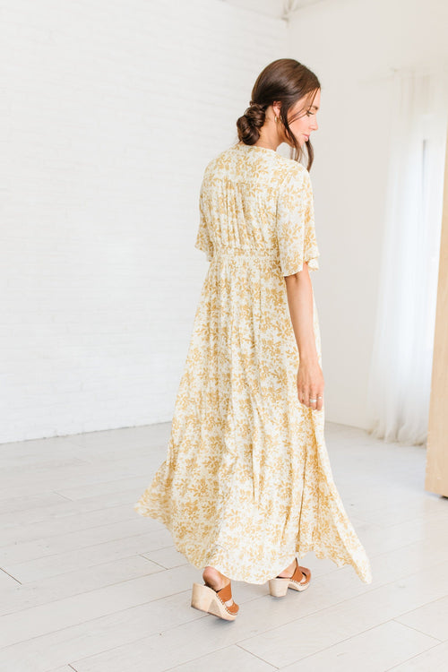 The Hawn Maxi Dress in Butter