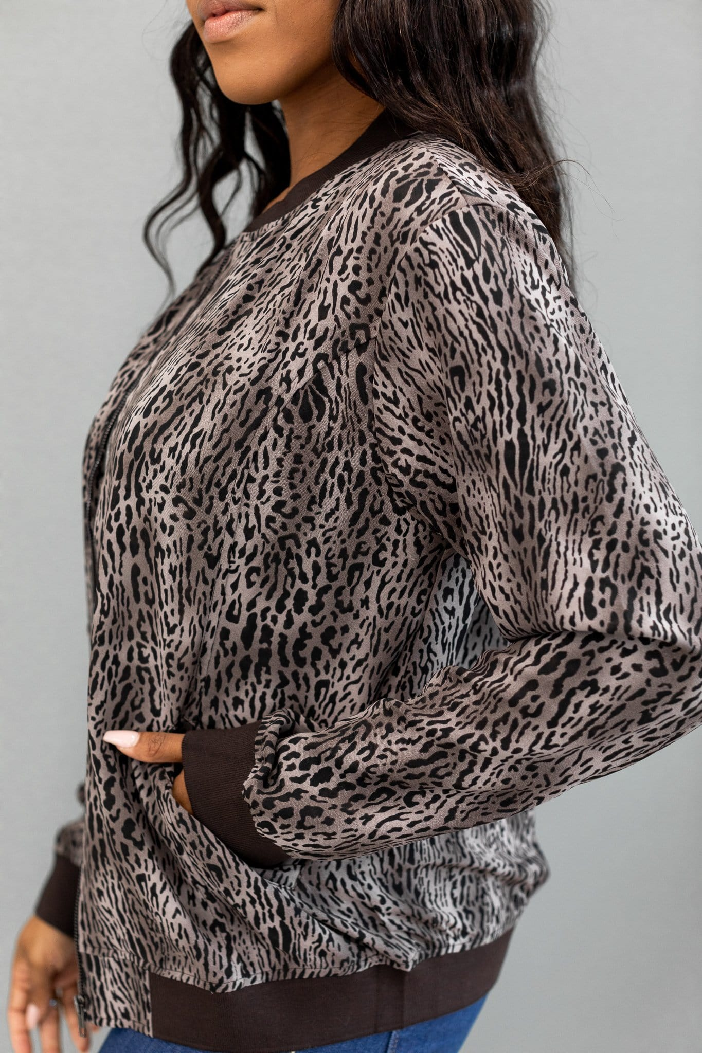 The Hawthorne Bomber Jacket in Animal Print