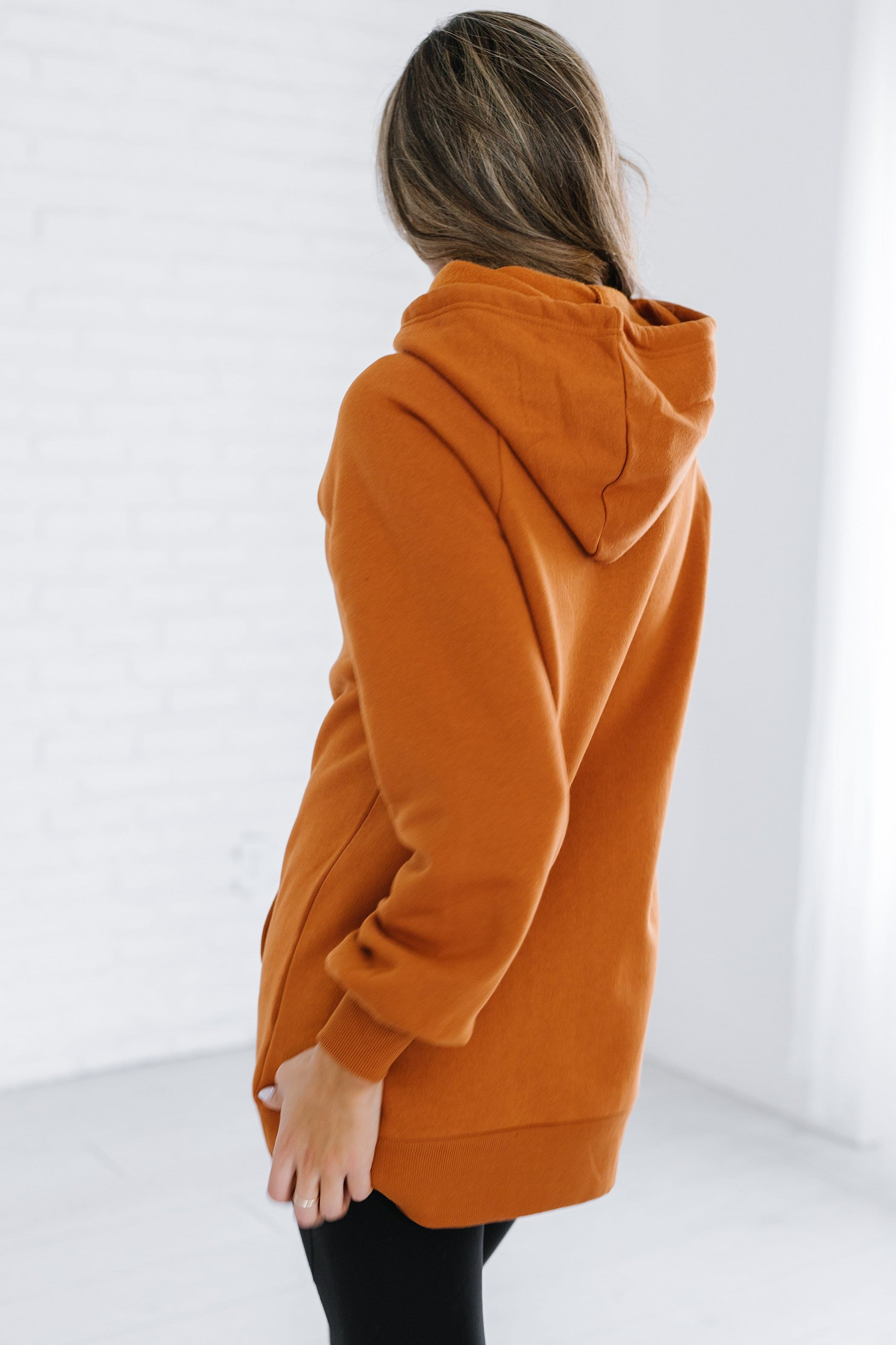 The Hillburn Side Tie Hoodie in Almond