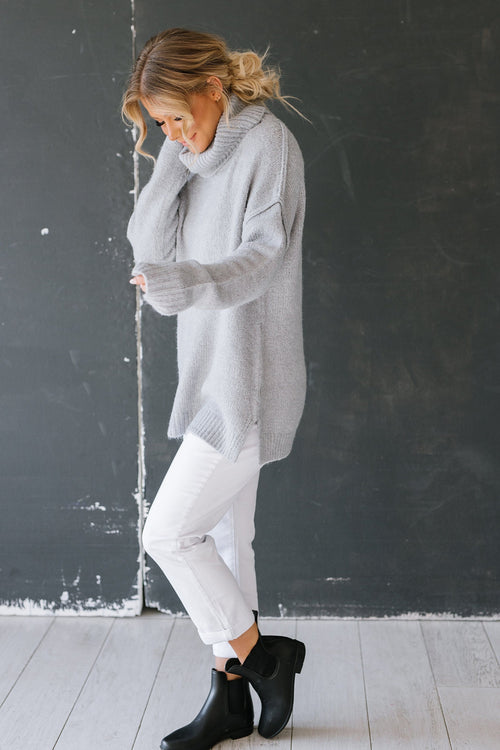 The Hillcrest Oversized Sweater in Grey