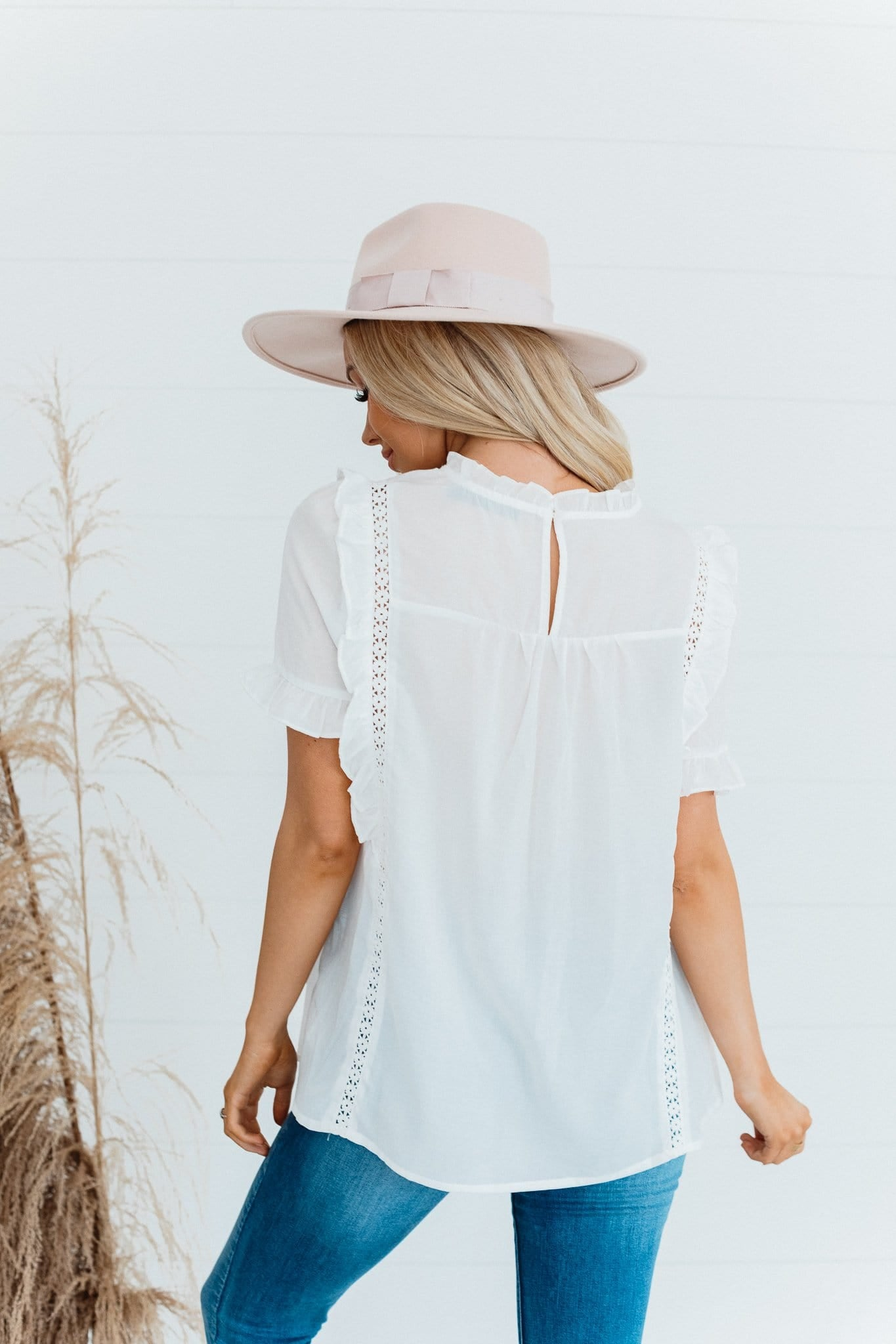 The Holmes Pintuck Top in White