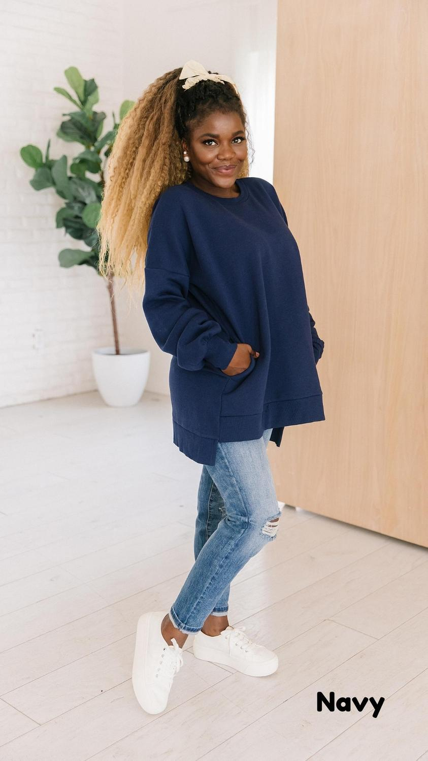 The Jaycie High Low Sweatshirts in Multiple Colors