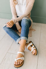 The Jina Strap Sandals in White