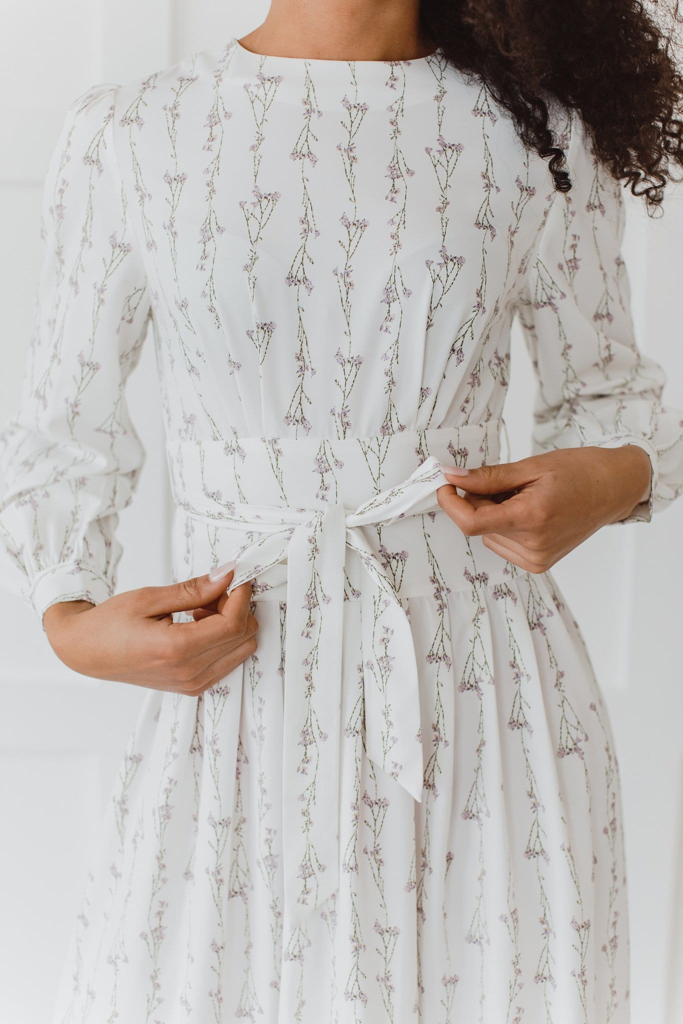 The Juliana Floral Dress in White