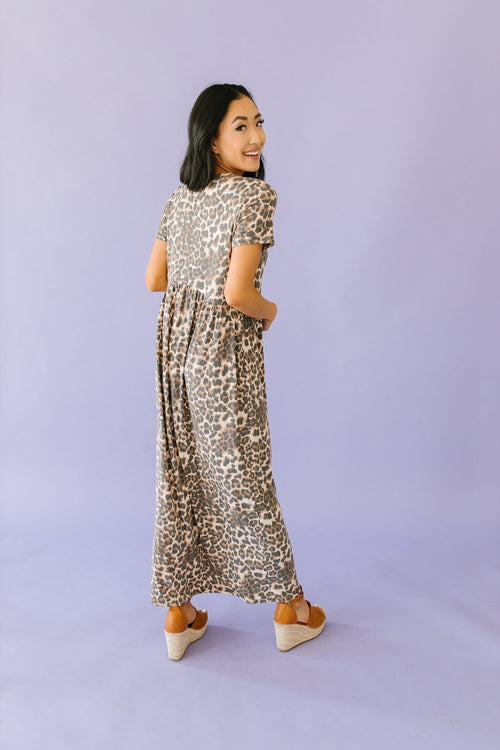 The Kayla Maxi Dress in Animal Print