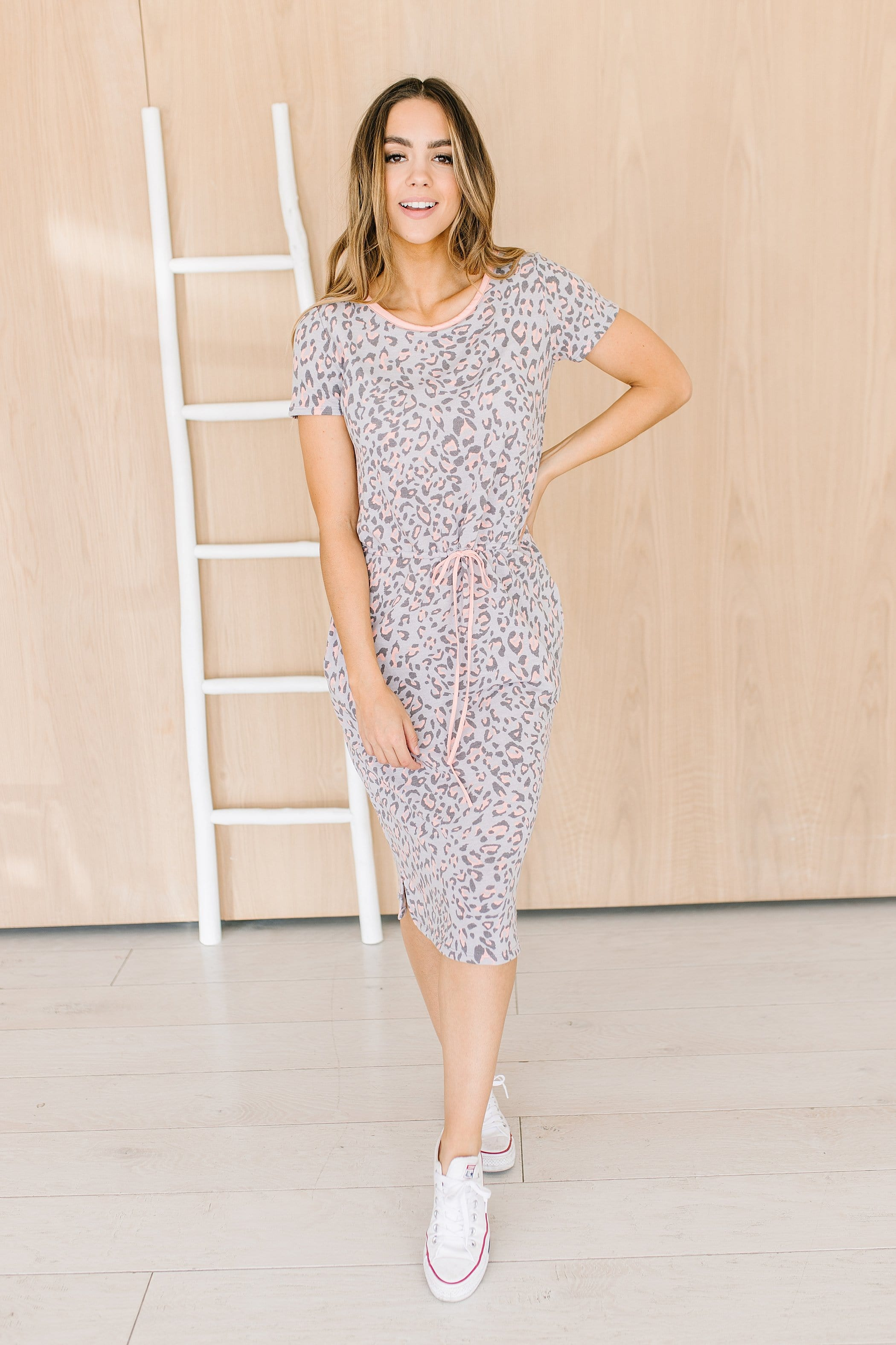 The Kendi Midi Dress in Animal Print