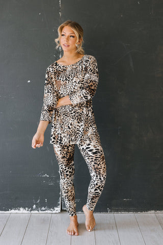 The Serena Loungewear Set in Animal Print