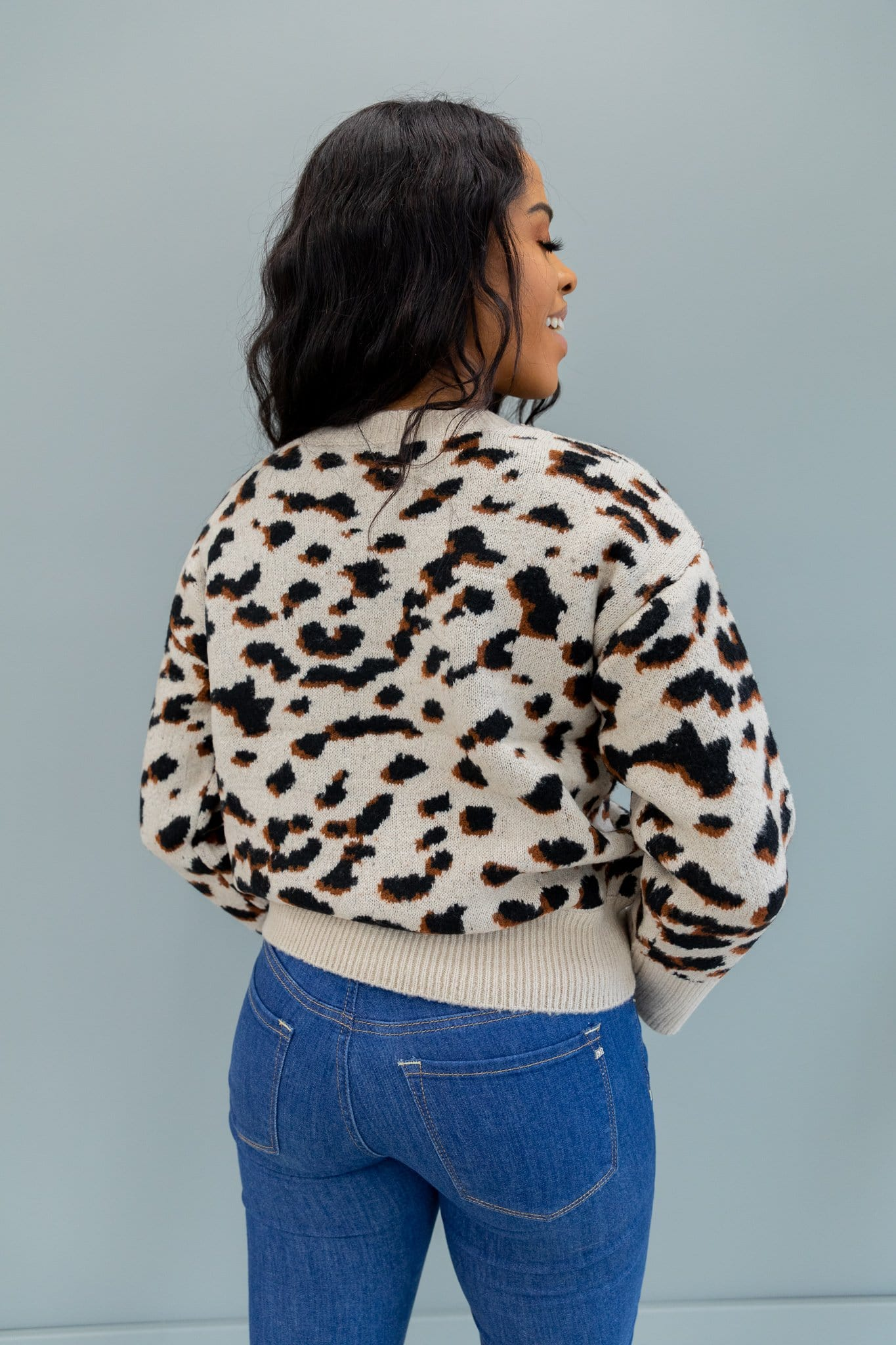 The Lennox Sweater in Animal Print