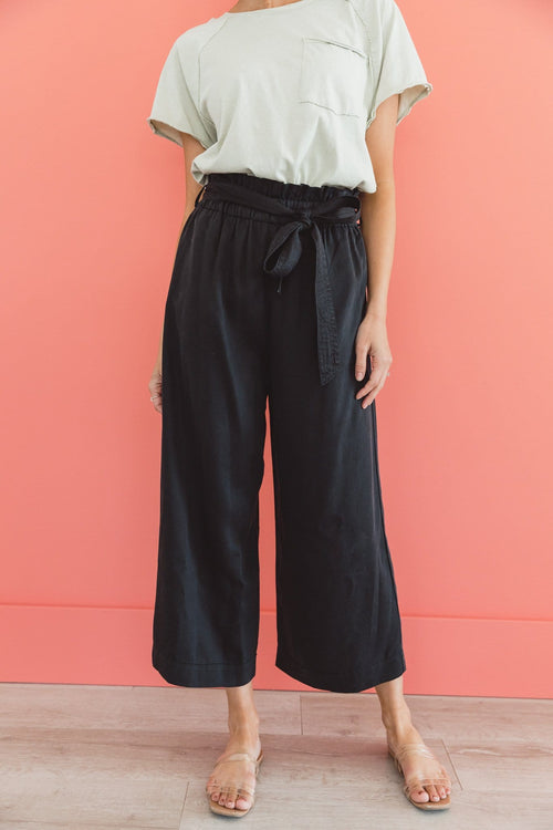 The Malone Wide Leg Pants in Black