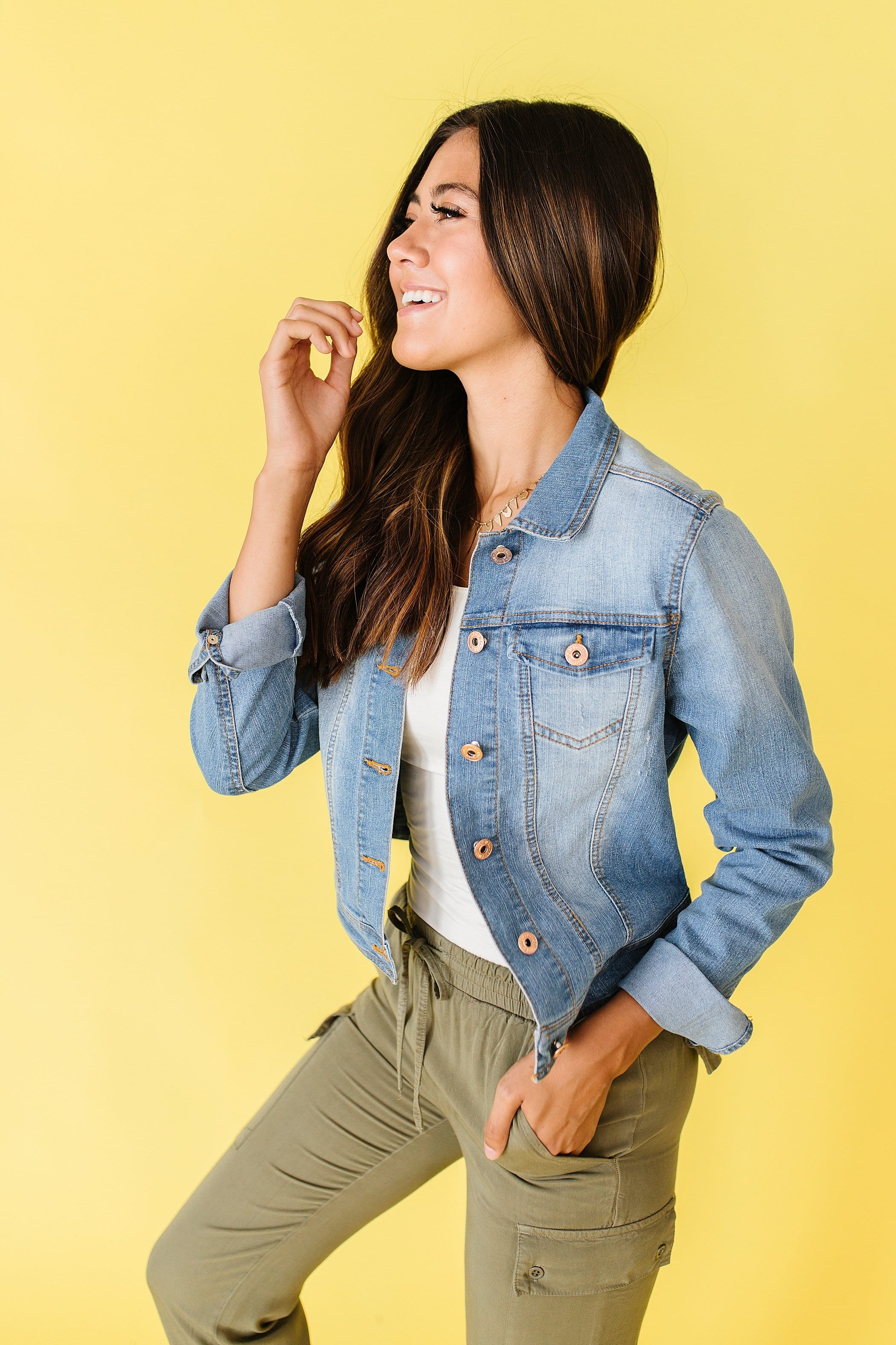 The Marian Jean Jacket in Medium Wash
