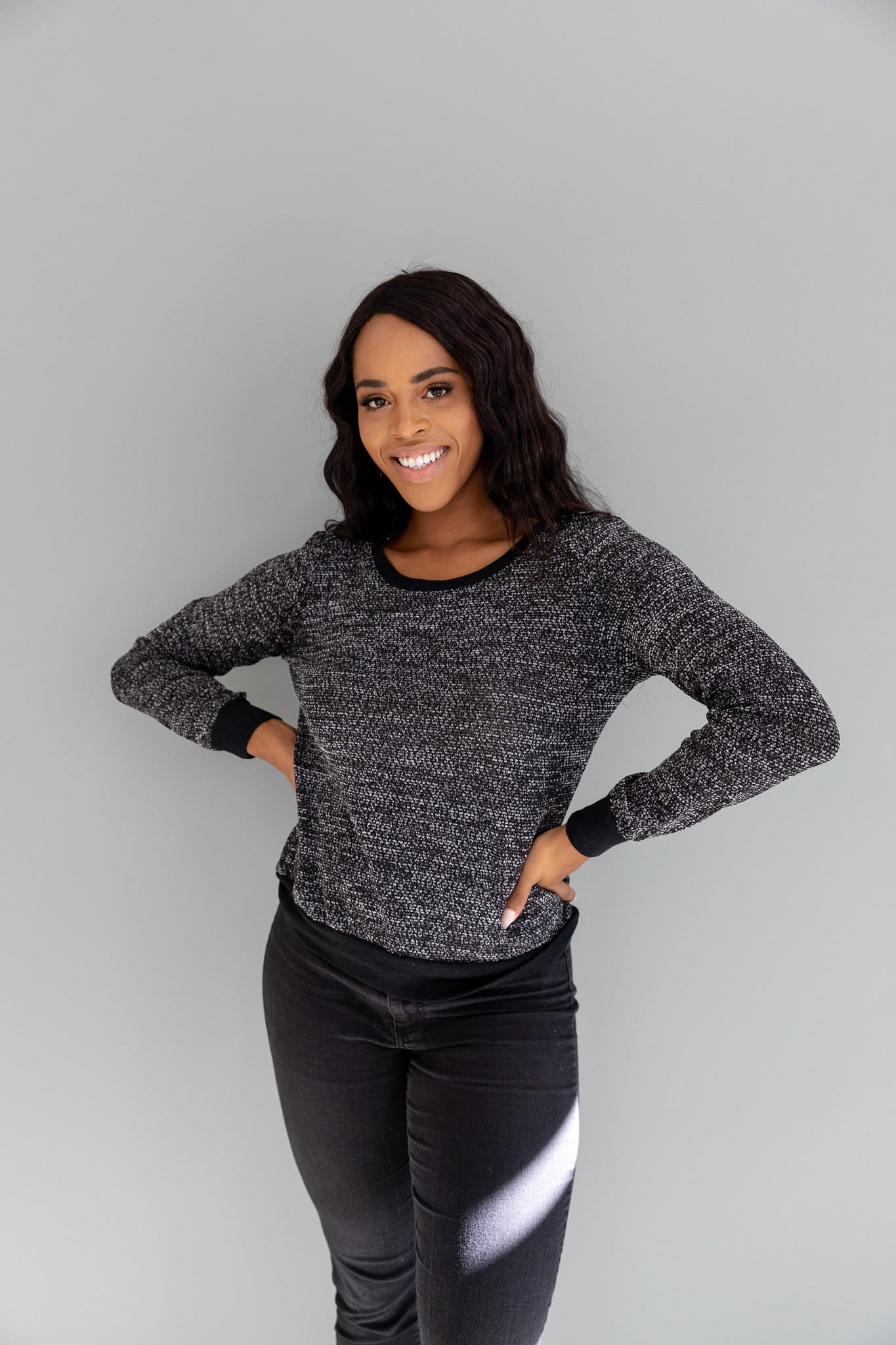 The Meagan Knit Sweater in Black