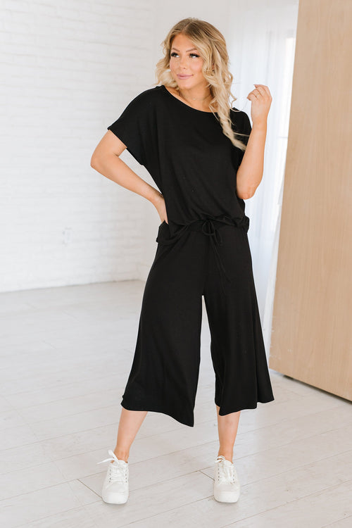 The Montclair Loungewear Set in Black