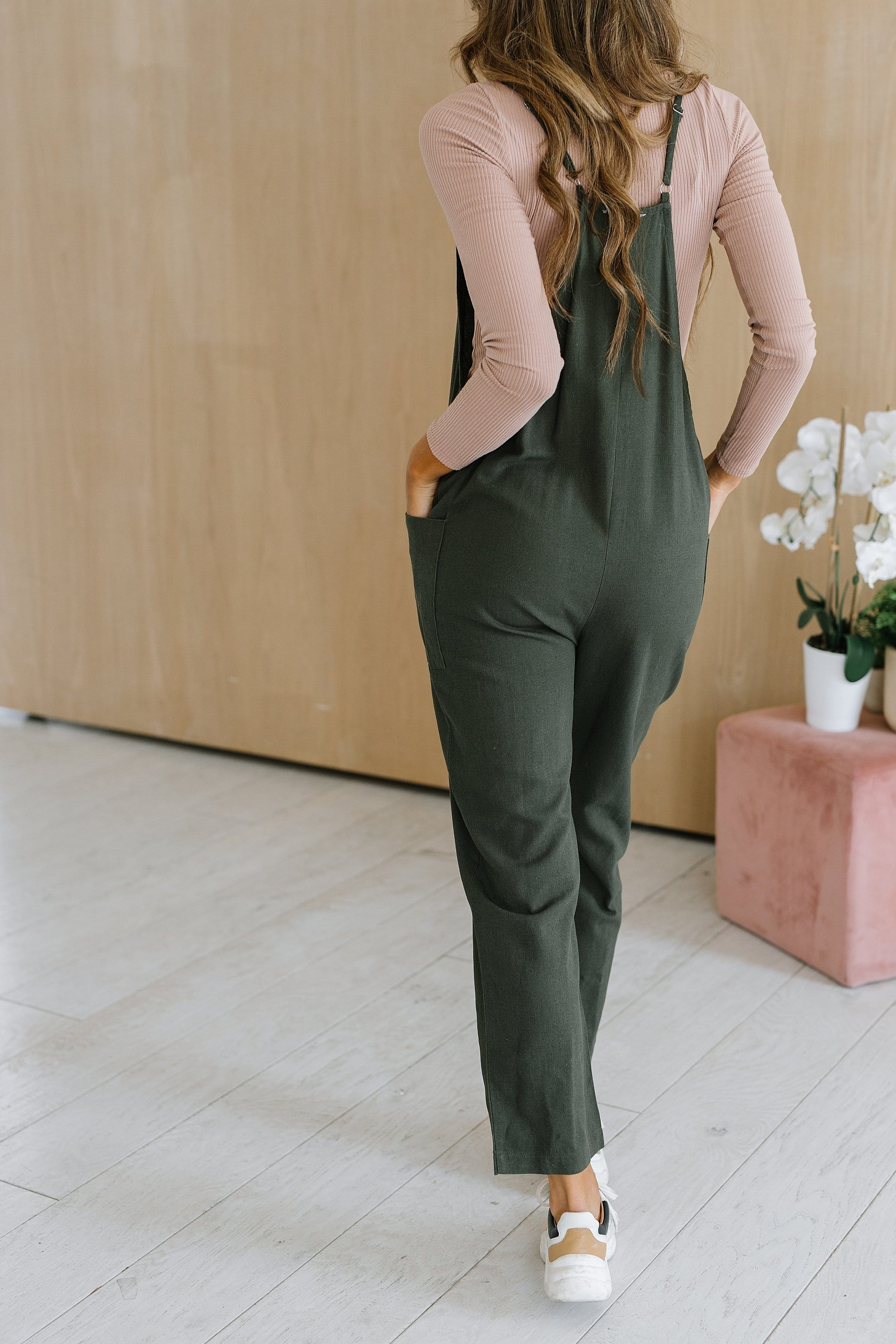 The Morrow Romper in Olive