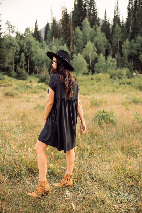 The Nellie Babydoll Dress in Black