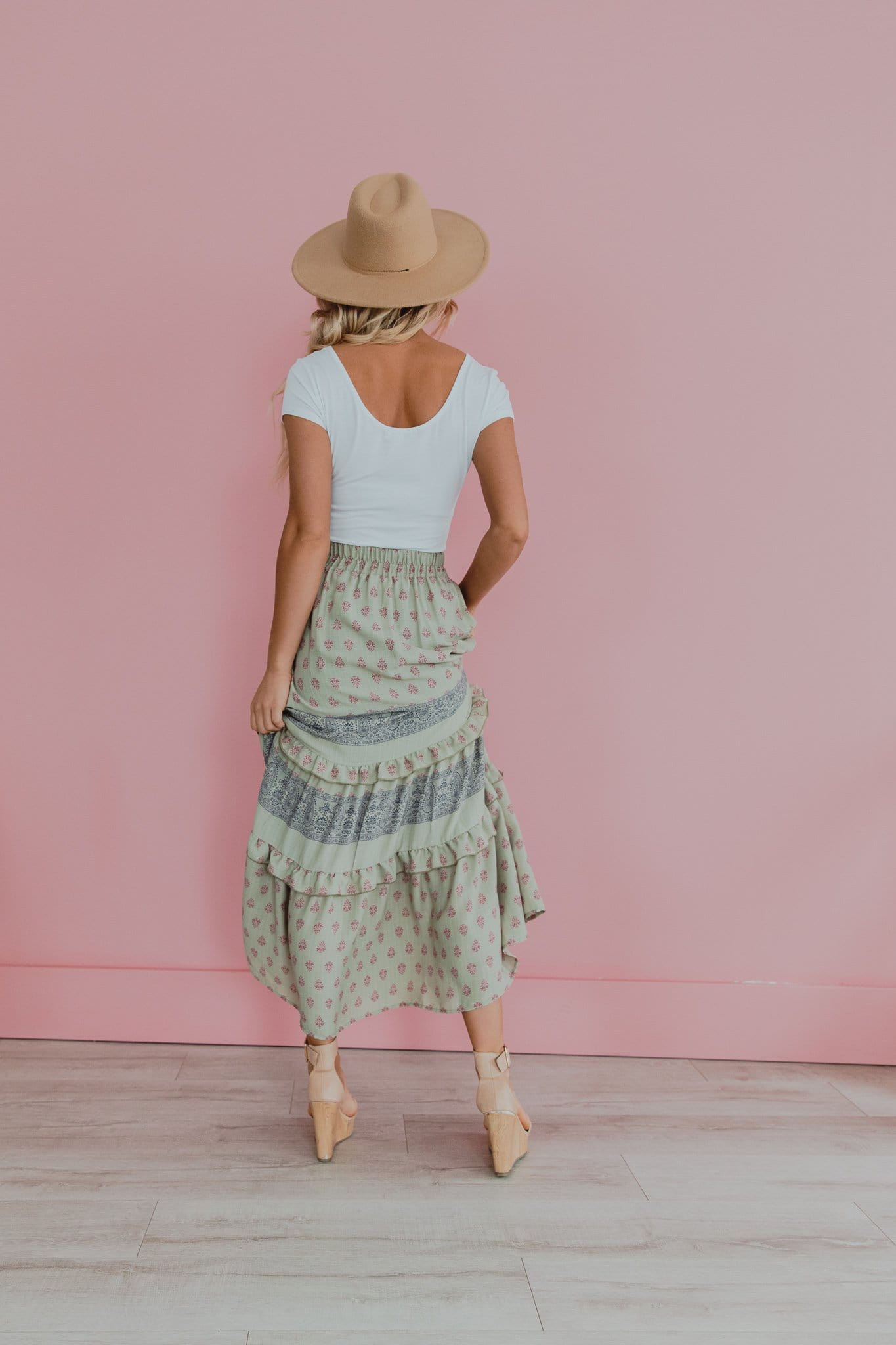 The Peace Skirt in Sage