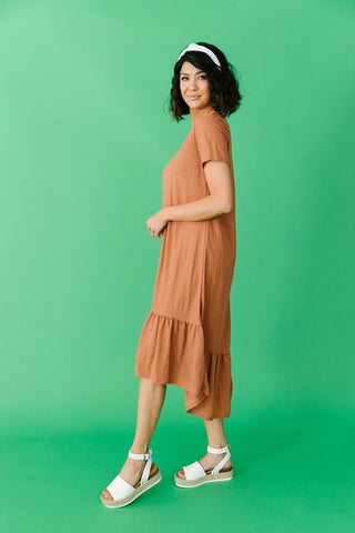 The Belmont Midi Skirt in Camel