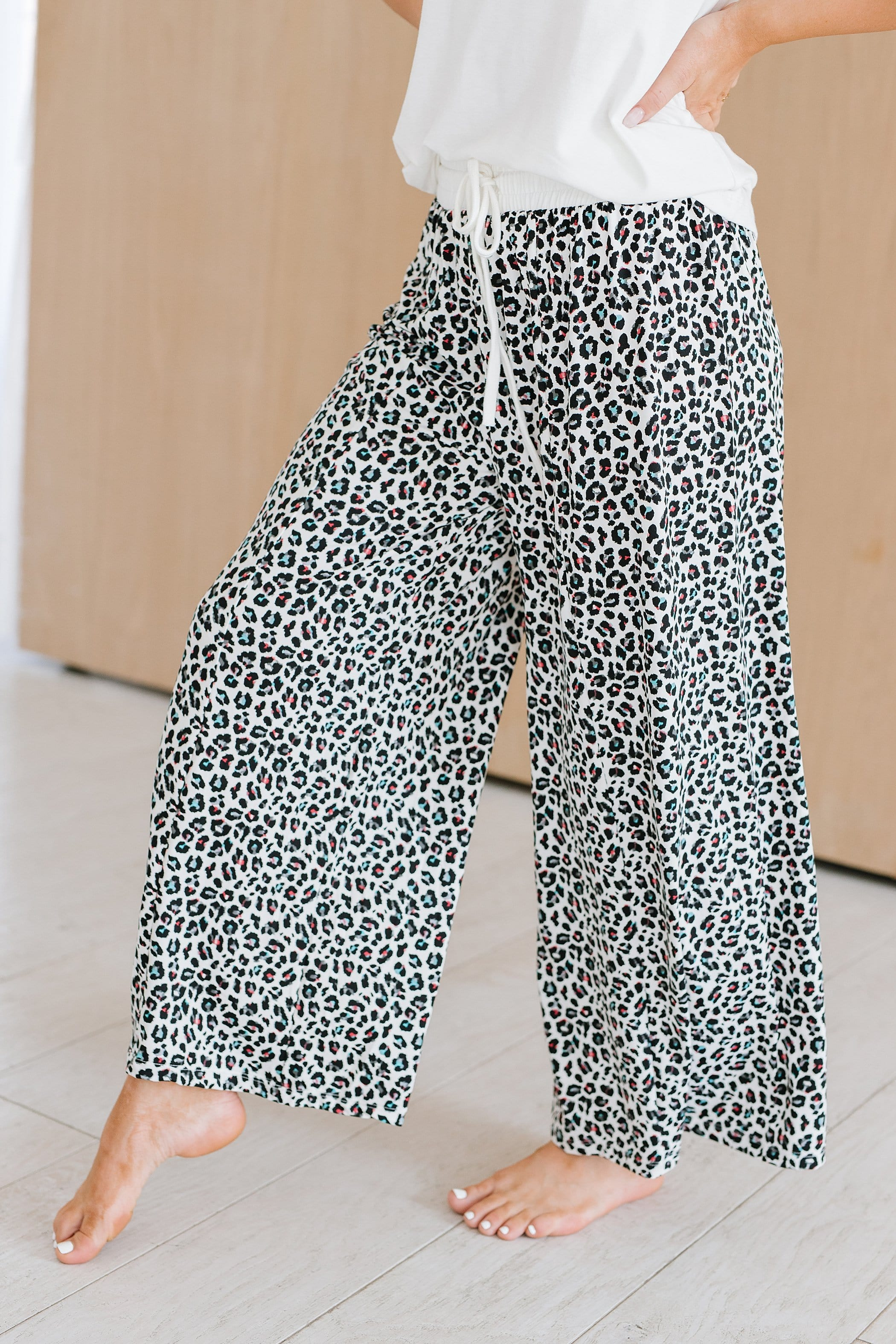 The Roxie Lounge Pants in Multi Colored Animal Print