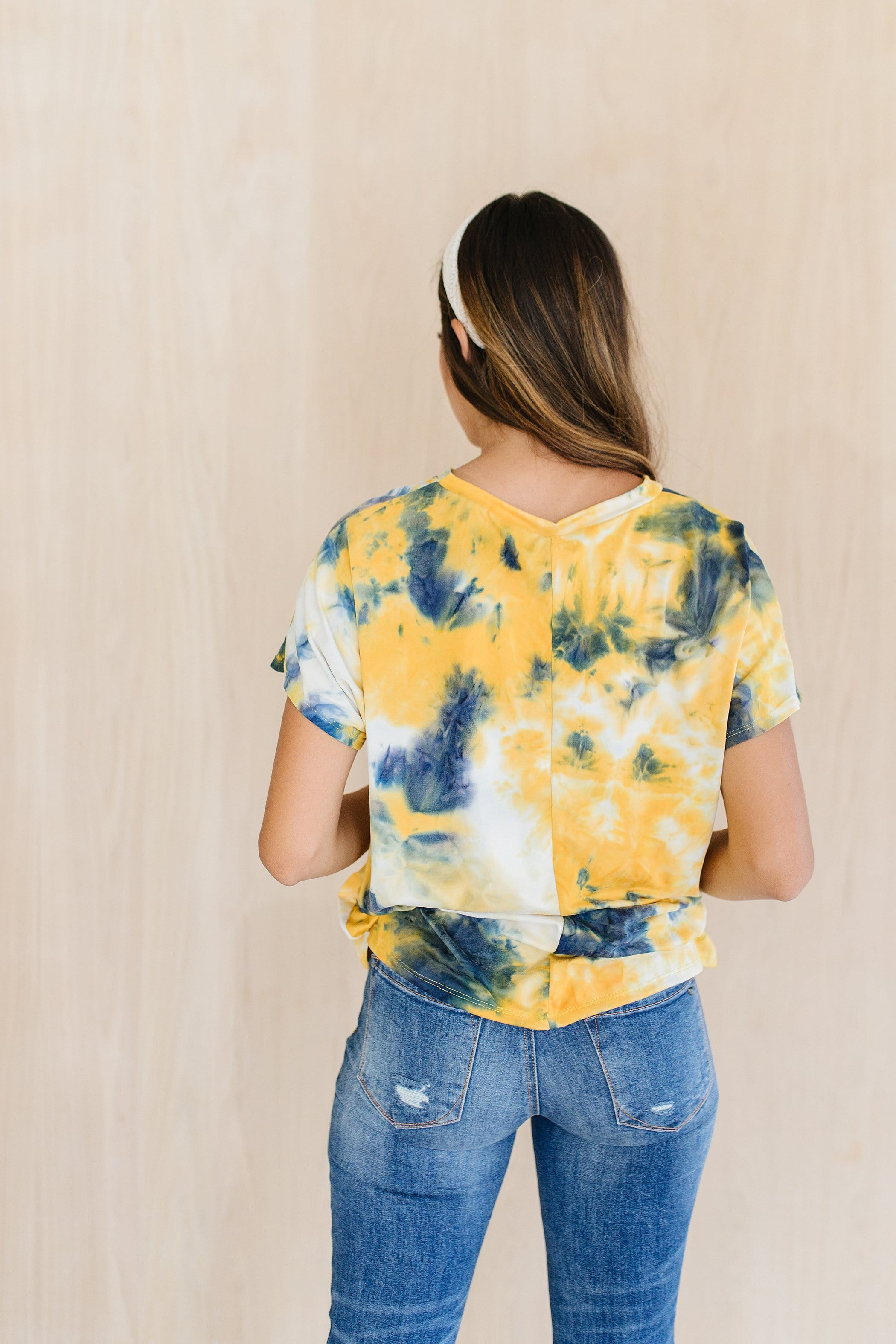 The Sabrina Tie Dye Top in Black or Yellow