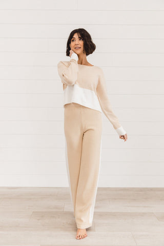 The Wynn Wrap Sweater and Pants Set in Rust