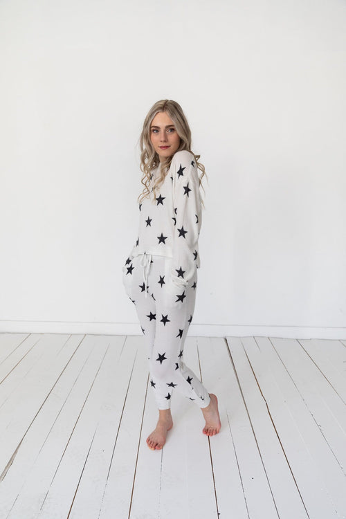 The Starry Loungewear Set in White