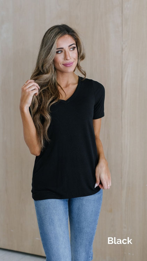 The Tate Basic Tee in Multiple Colors