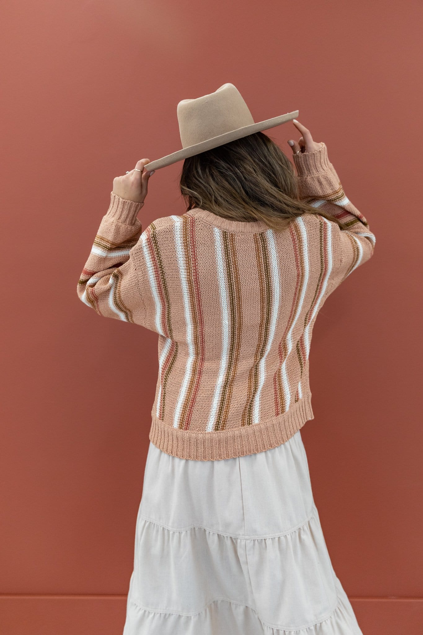 The Tegan Stripe Sweater in Multi