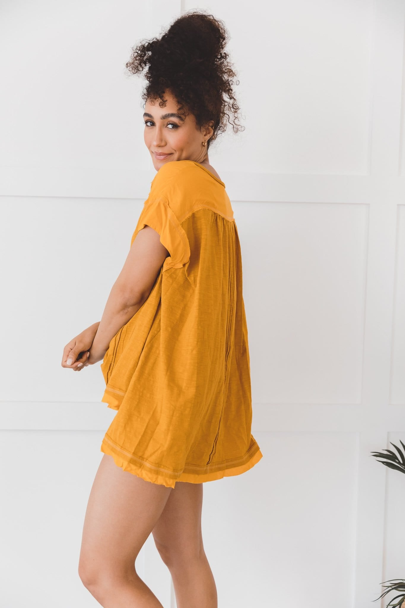 The Thalia Top in Marigold
