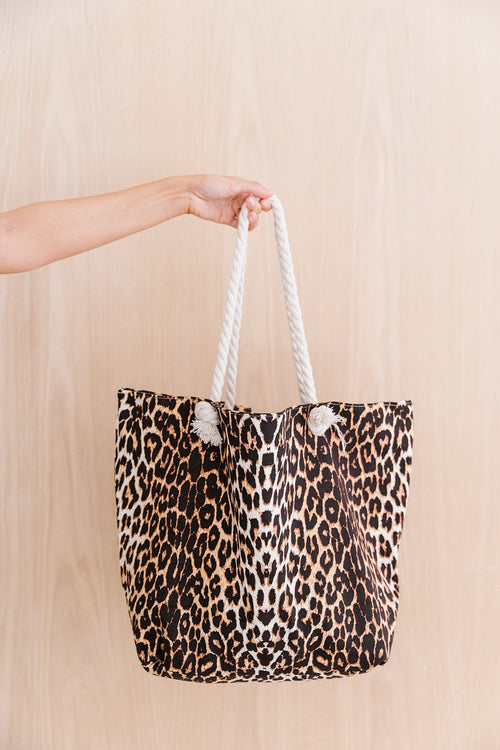 The Vida Tote Bag in Animal Print