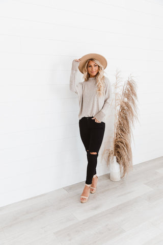 The Lindy Crop Cardigan in Ivory