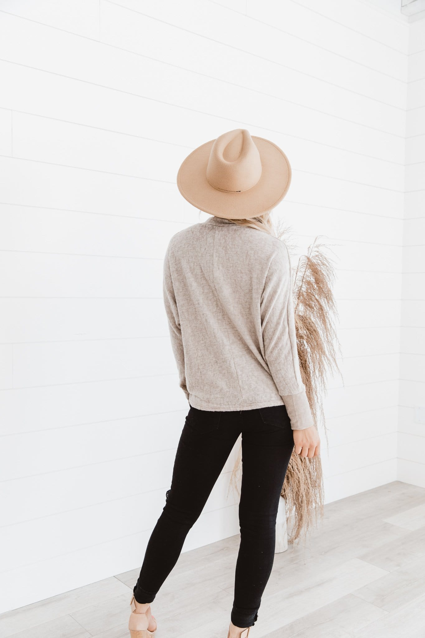 The Waverly Dolman Top in Oatmeal
