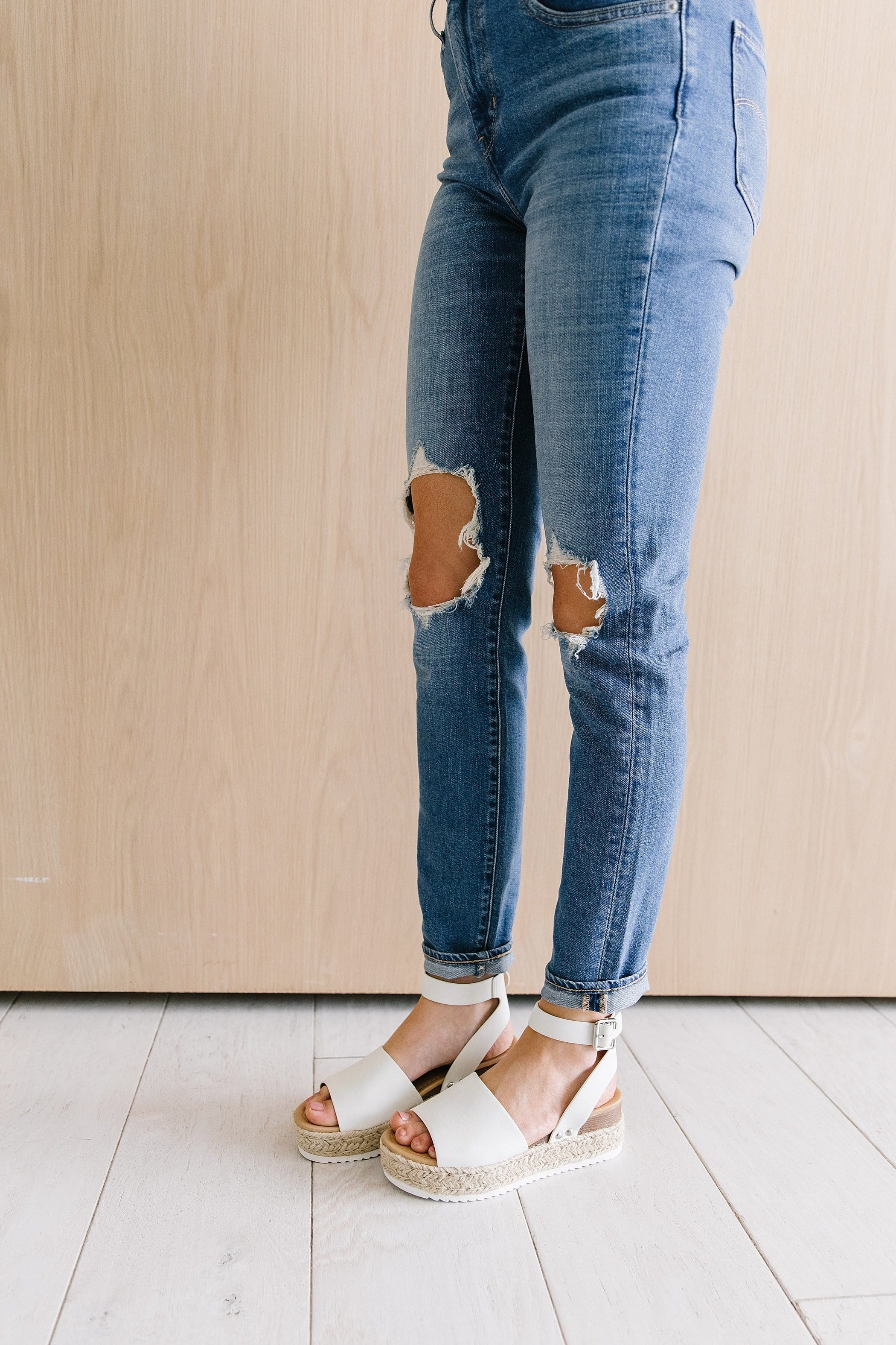 The Oaklyn Wedge Sandals in Natural