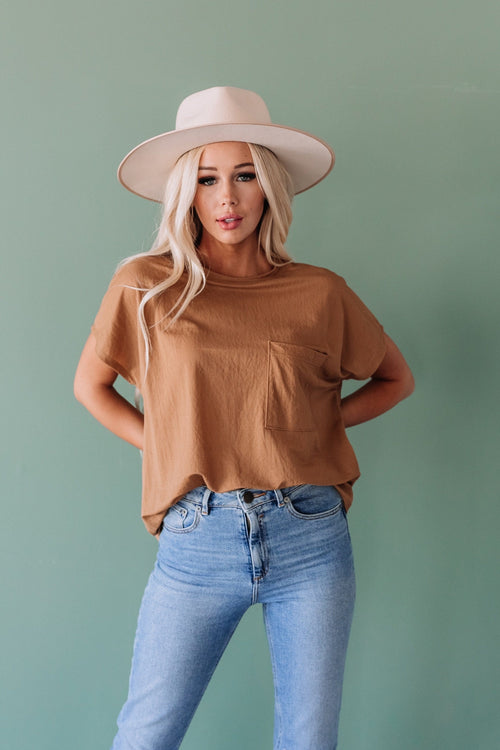 The Atmore Pocket Top in Mustard