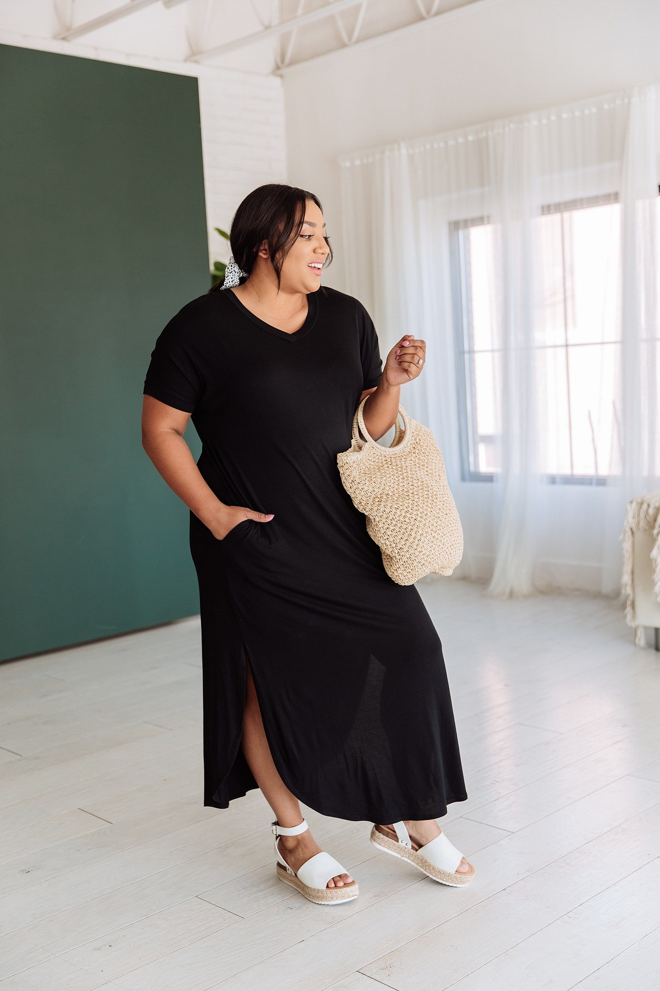 The Thandie Maxi Dress in Black