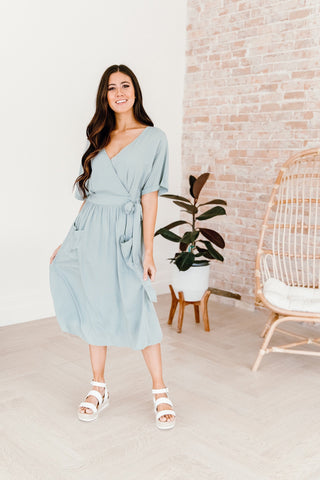 The Caldwell Midi Dress in Teal