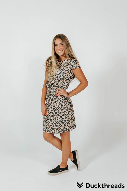 The Duckthreads Pocket Dress in Cheetah Print