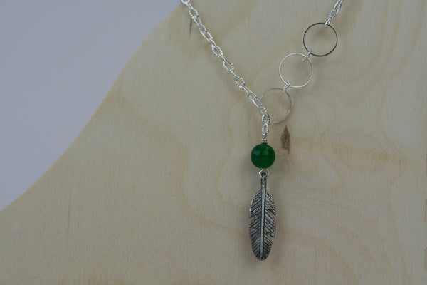 Daliso Leaf Charm Necklace