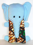 Green Blue Lily / Elephant